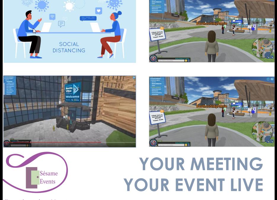 """Sesame Events """" votre événement virtuel """" de type """"second life"""""""