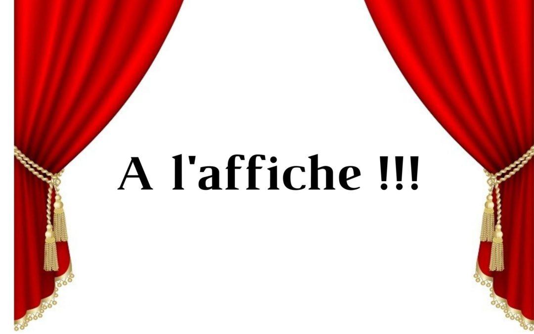 A l'affiche : Côté Théâtre !! reprise ou première … les pistes